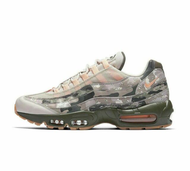 9f062981 Nike Air Max 95 Essential Desert Camo Mens Aq6303-001 Sand Sunset Shoes  Size 12 for sale online   eBay