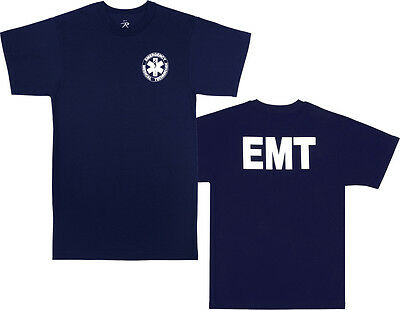 Navy Blue Official EMT Paramedic Double Sided T-Shirt