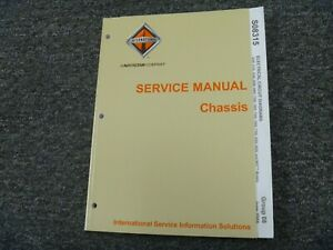 2006 2007 International 4300 4400 7300 Truck Electrical Wiring Diagrams Manual Ebay