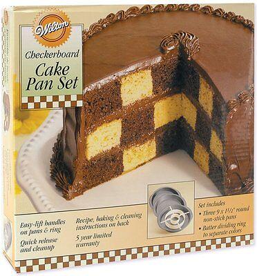 Wilton Checkerboard Cake Pan Set, New, Free Shipping