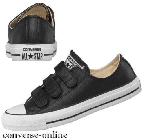 en noir Converse Star Uk taille garçons pour 3 cuir de 3v sangle 5 chaussures femmes All 4wREqRT