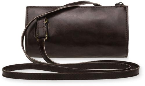 kleine Schultertasche Damentasche Clutch Tasche braun