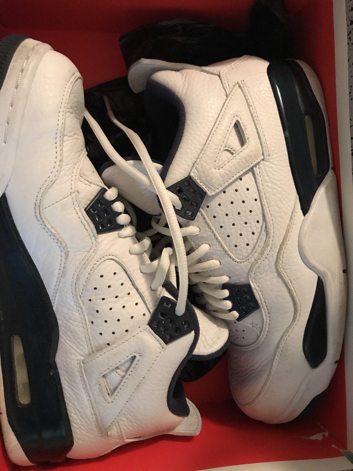 f7d74da03ab43 Nike Nike Nike Air Jordan 4 Legend Blue Size 9 Retro White Midnight Navy  88cc6e
