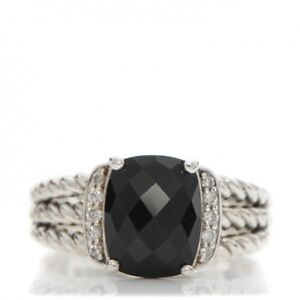 Designer-Inspired-10-x-8mm-Wheaton-Ring-with-Black-Onyx-and-Diamond-Size-7