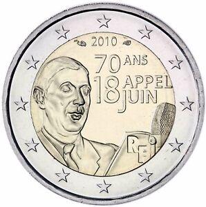 Frankreich 2 Euro Appell 18 Juni 1940 Charles De Gaule Unzirkuliert