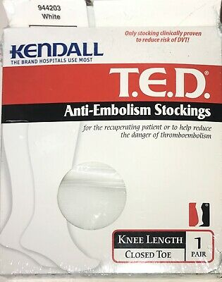 lot of 3 Details about  /Kendall T.E.D.Anti-Embolism Stockings knee Length Closed Toe #944202