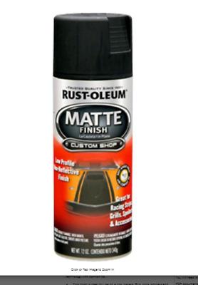 Black Vinyl Fabric Spray Paint 6 Pack Cans Flat Matte