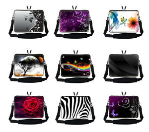 10-034-17-034-Neoprene-Laptop-Computer-Sleeve-Bag-with-Shoulder-Strap-For-ASUS-DELL-HP
