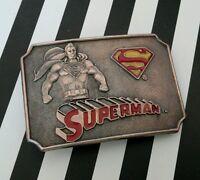Vintage Antique 1944 DC Comics Superman Metal Belt Buckle (A) Lee 1950