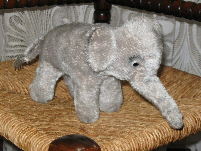 Old Antique Hermann Germany Mohair Elephant 24 ID cm NO ID 24 0ce812