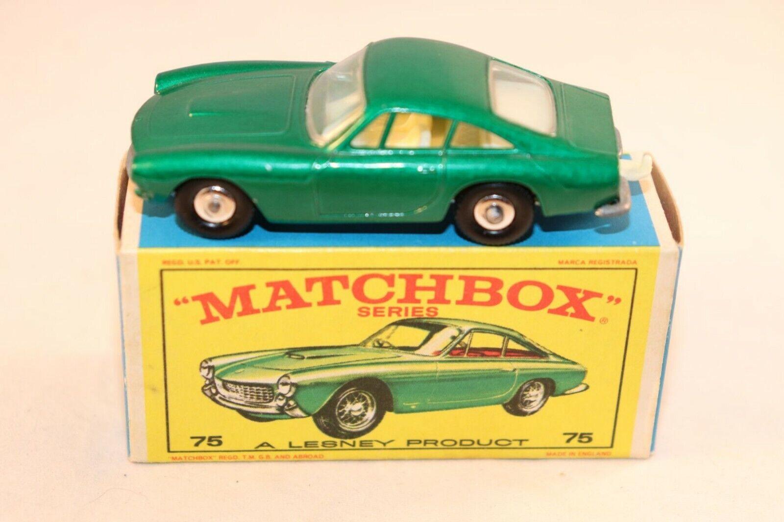 Matchbox Lesney No 75 Ferrari Berlinetta green perfect mint in near mint box