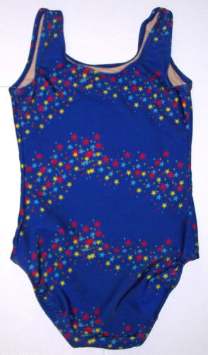 Nwt New Danskin Leotard Leo Tank Blue Royal Star Sleek Fit Lined Cute Nice Girl