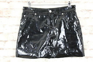 Topshop-Moto-Black-Skirt-size-10