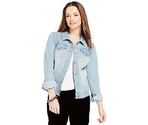 Style-amp-Co-NEW-Blue-Women-039-s-Size-M-Medium-Denim-Jacket-Jean-Jacket-69-M63-A