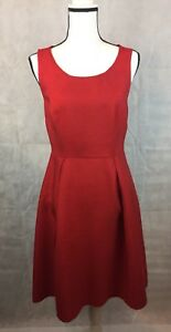 The-Limited-Outback-Womens-Size-8-Dress-Cocktail-Sleeveless-Cut-Out-Back-Red