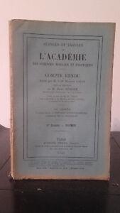 Sessioni E Lavoro Di ACCADEMIA Delle Sciences Morales E Politica - 1915 - N° 11