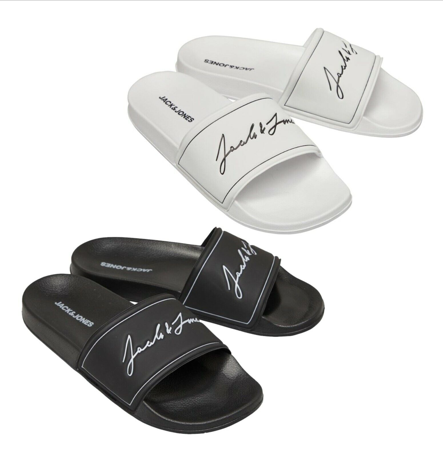 Mens Jack And Jones Footwear Contoured Casual Slip On Sliders Sizes from 6 to 13