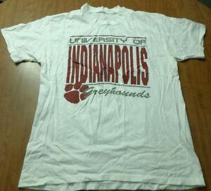 University Indianapolis Vtg Greyhounds Lrg T Shirt Uindy