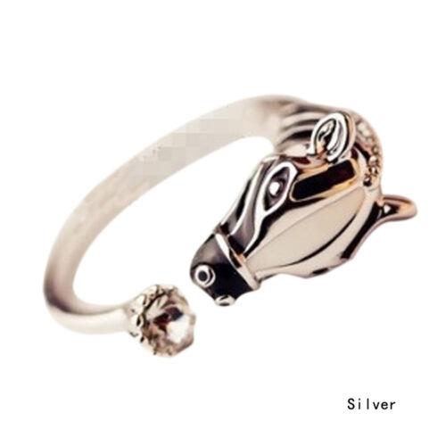 Korean Fashion Women Zebra Horse Head Adjustable Finger Ring Newest Nice vGgzT