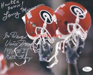 Vince Dooley Signed Georgia Bulldogs 11x14 Photo Coa Photos Sports Mem, Cards & Fan Shop