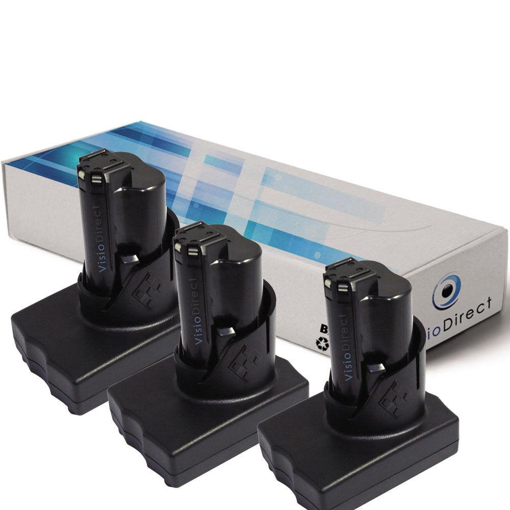 Lot de 3 batteries 12V 3000mAh pour AEG Milwaukee 2277-21NST