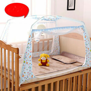 Image is loading Baby-Crib-Tent-Portable-Bed-Canopy-Mosquito-Net- & Baby Crib Tent Portable Bed Canopy Mosquito Net Curtains with Stand ...