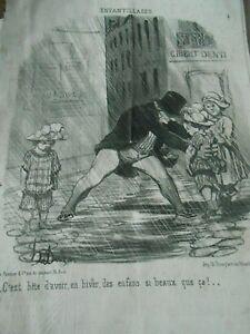 HD-1705-Daumier-1851-Cosas-infantiles-C-039-est-bestia-d-039-tener-en-invierno