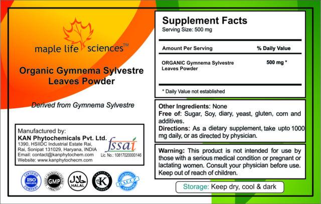 ORGANIC Gymnema Sylvestre Leaves Powder, Weight Loss, Control Blood Sugar
