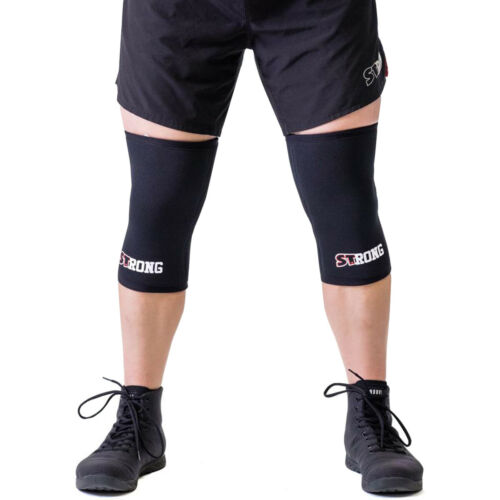 7mm thick neoprene supports Black Sling Shot STrong Knee Sleeves by Mark Bell