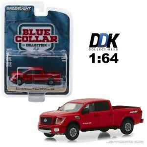 GREENLIGHT-35120F-2018-NISSAN-TITAN-XD-PRO-4X-PICKUP-TRUCK-RED-DIECAST-1-64