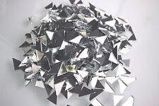 Mosaic  Silver Mirror Tiles Triangular approx 1.2  cm,  1.6 mm thick, 500 pcs