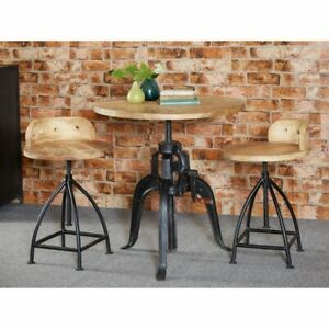 Stupendous Details About Jupiter Reclaimed Wood Metal Furniture Breakfast Bar Dining Stool Chairs Pair Ibusinesslaw Wood Chair Design Ideas Ibusinesslaworg