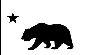 Cali Bear star Decal DieCut California state SoCal New Fast Cars Custom gift