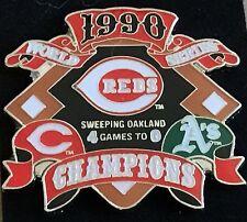 CINCINNATI REDS VS OAKLAND A'S 1990 WORLD SERIES PIN MLB LICENSED