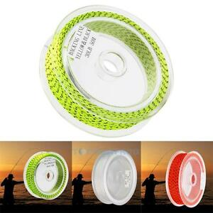 20//30LB Line Backing White Orange Yellow Braided Fly Fishing Trout Line /& LoopS!