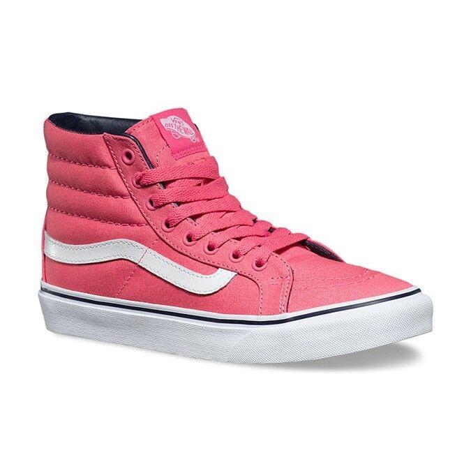 VANS Sk8 Hi Slim Camellia Rose/Parisian Night Pink Skate WOMEN'S 8.5