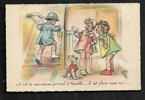 Carte-Postale-Germaine-BOURET-TRES-BON-ETAT-Dim-9-X-14-Cm