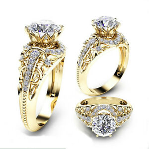 Gorgeous-Women-Jewelry-18K-Yellow-Gold-Plated-White-Sapphire-Ring-Wedding-Sz6-14