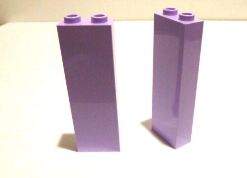 2 x LEGO® 2454 Friends Basicsteine in 1x2x5 Flieder Farben Neuware