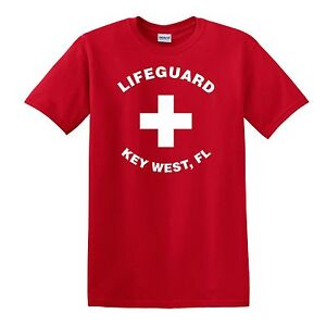 1dd36f7f0054 Image is loading LIFEGUARD-KEY-WEST-FL-T-SHIRT-up-to-
