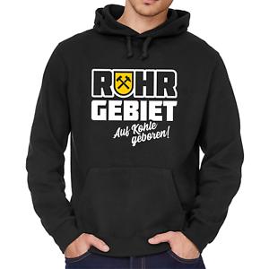 Ruhrgebiet-Auf-Kohle-geboren-Zeche-Bergbau-Dortmund-NRW-Kapuzenpullover-Hoodie