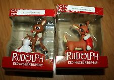 LOT of 2 AMERICAN GREETINGS RUDOLPH THE RED NOSED REINDEER CHRISTMAS ORNAMENTS