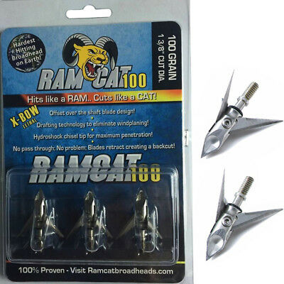 3-blade 100Gr Hunting Arrow Tip Broadheads For Hunting Archery Compound Bow T1