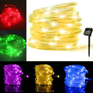 12M-100LED-Solar-Powered-Rope-Tube-String-Fairy-Lights-Outdoor-Garden-Xmas-Lamp