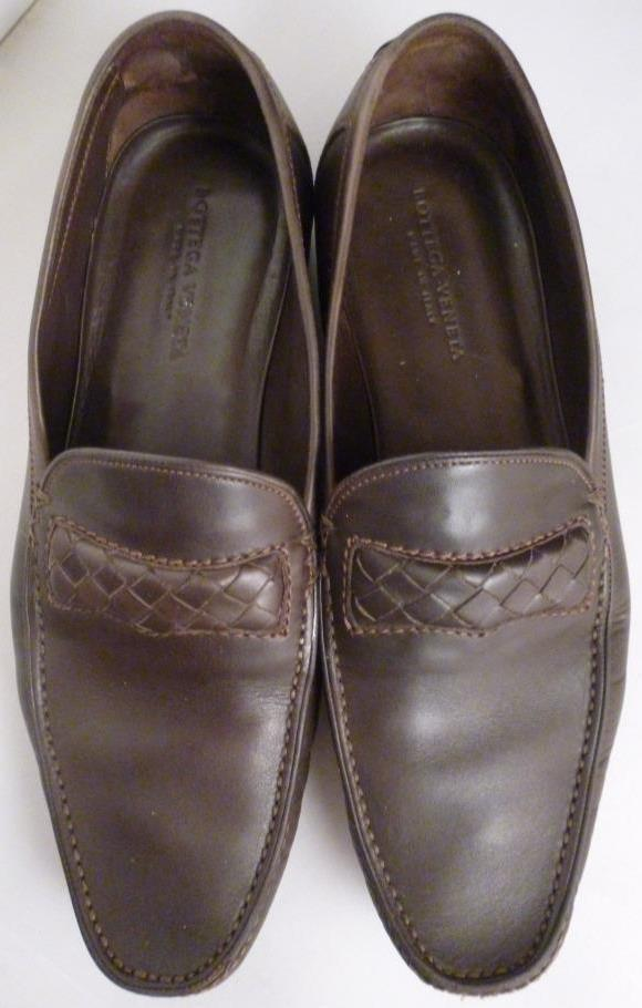 Mens Bottega Veneta Dark Brown Woven Loafer Slip Ons Soft Sole Size 41 8