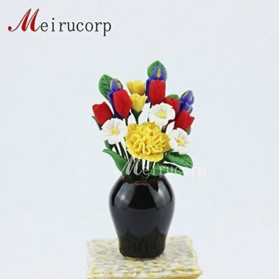 Sunflower flower bed for 1//12 Scale Dolls house Miniature decoration Flower