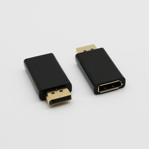 1x DP DisplayPort Male to Female Extension Gold Plated Converter Adapter Black