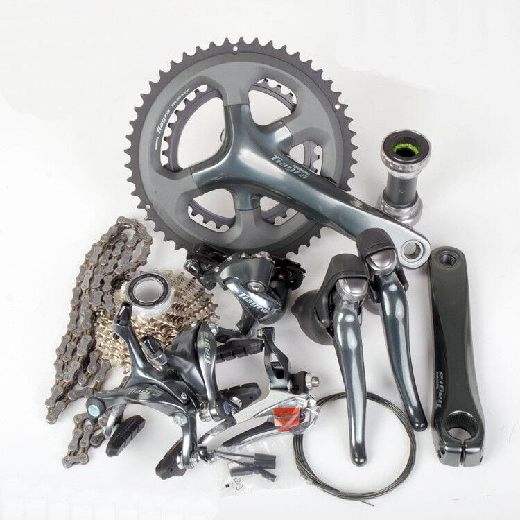 Shimano Tiagra  4700 Road Bike Complete Groupset 2x10S 50-34T 52-36T 170 172.5MM  sale online