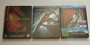 Lot-Blu-ray-Steelbook-neufs-Integrales-SPIDERMAN-amp-AMAZING-SPIDERMAN