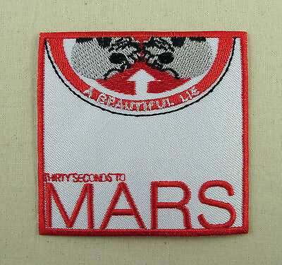 30 Seconds To Mars  Iron On Sew On Embroidered Patch Rock Band